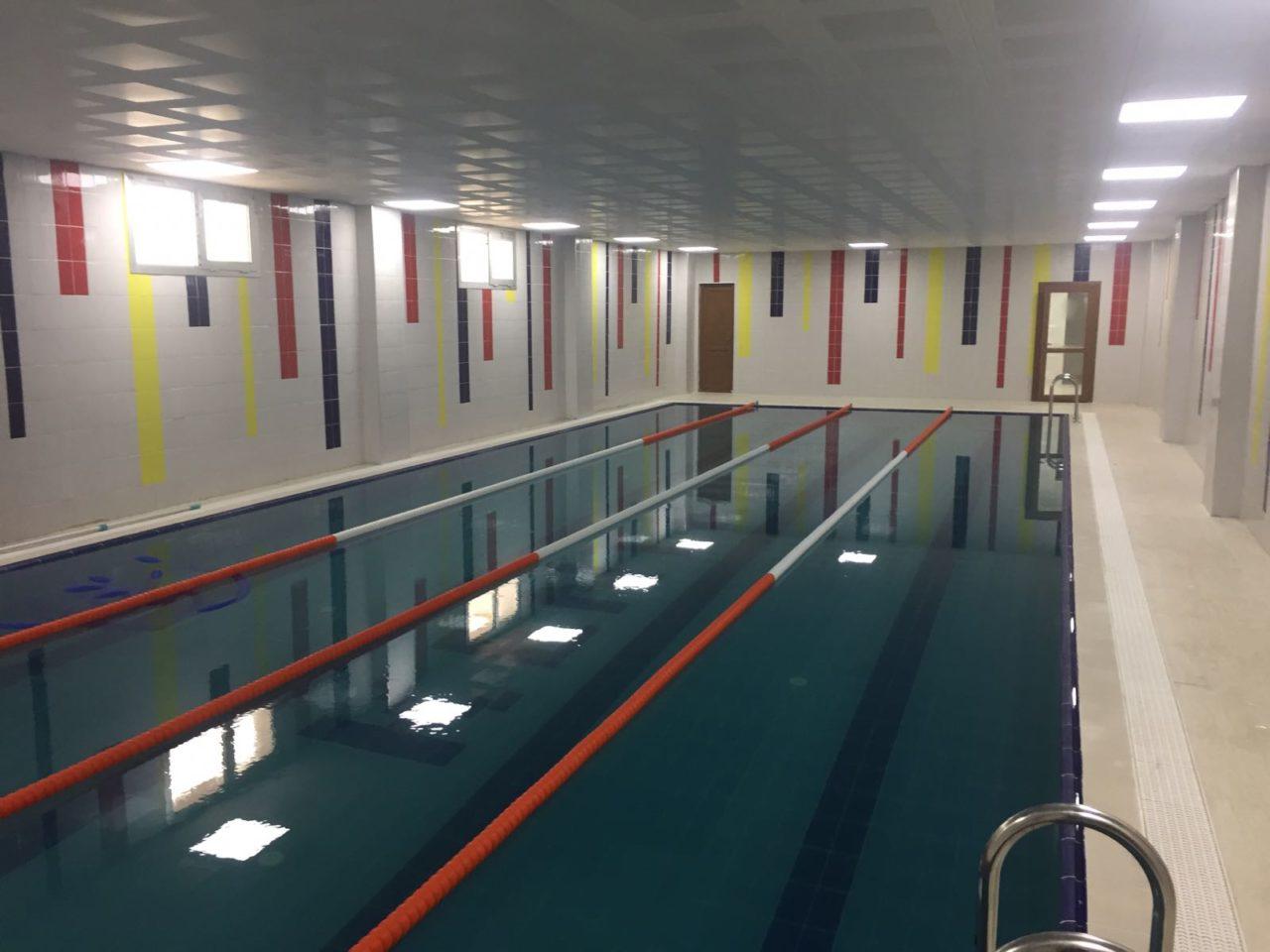 Havuz yapımı inşaatı tamamlanmıştır.