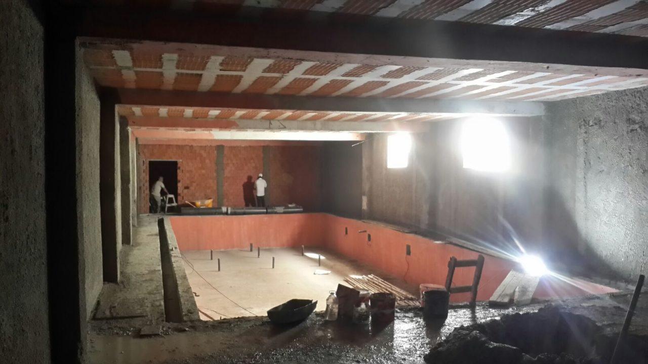 Havuz yapım inşaatı